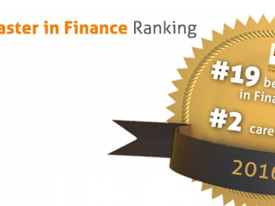 EADA's Master in Finance is among the Top 20 in the world
