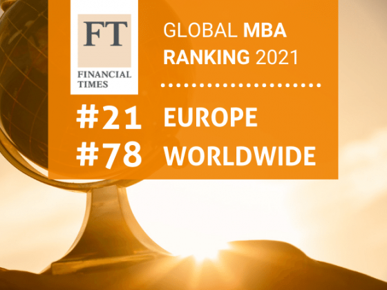 Best MBAs in the world - Financial Times - 2021
